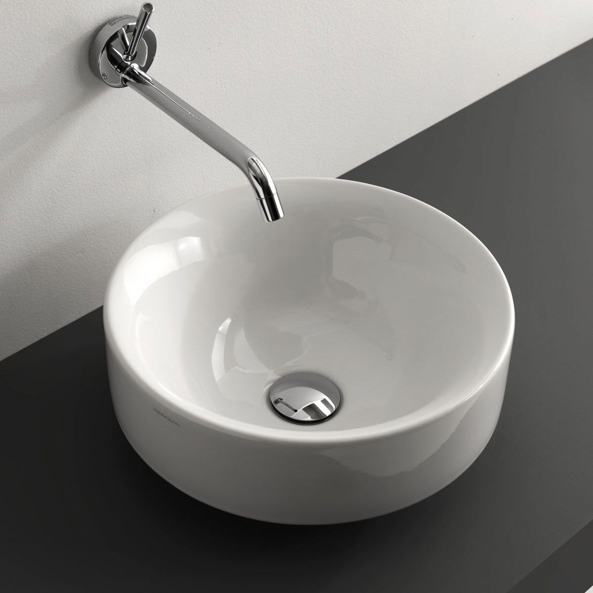 Ws Bath Collections Cento 3557 Vessel Drop In Bathroom Sink 17 7