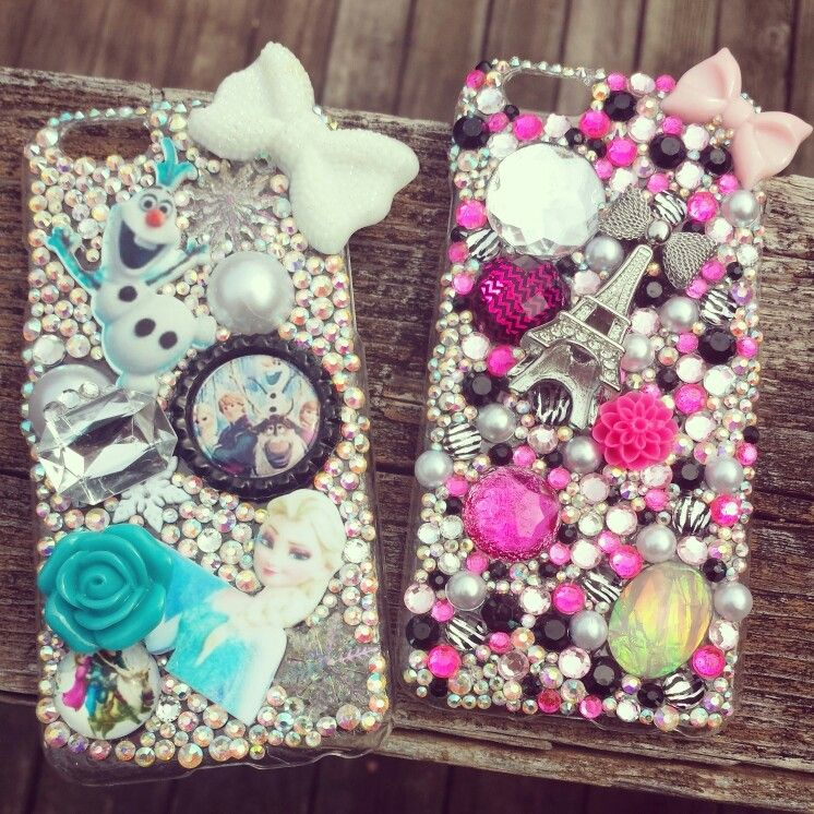 Frozen and Paris theme iPhone 6 cases I made
