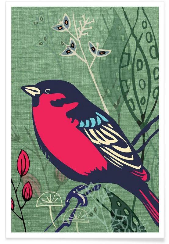 Bird als Premium Poster von Rocket68 | JUNIQE