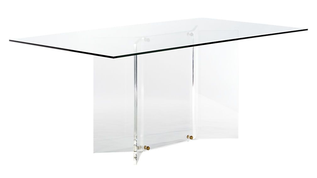Scarpa Glass And Acrylic Dining Table