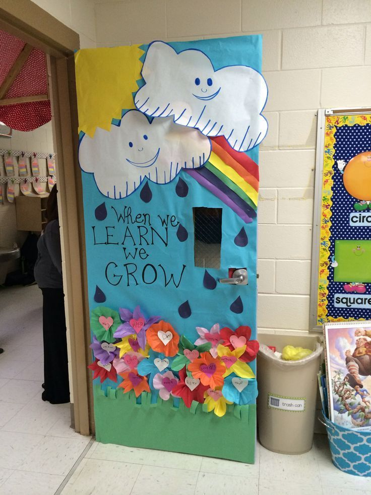 spring into learning with this cute classroom door idea