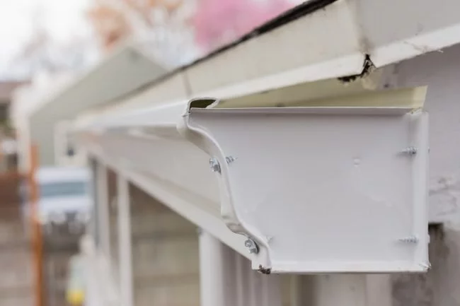 Solved How To Fix Leaking Rain Gutters In 2020 Rain Gutters Gutters Gutter Repair