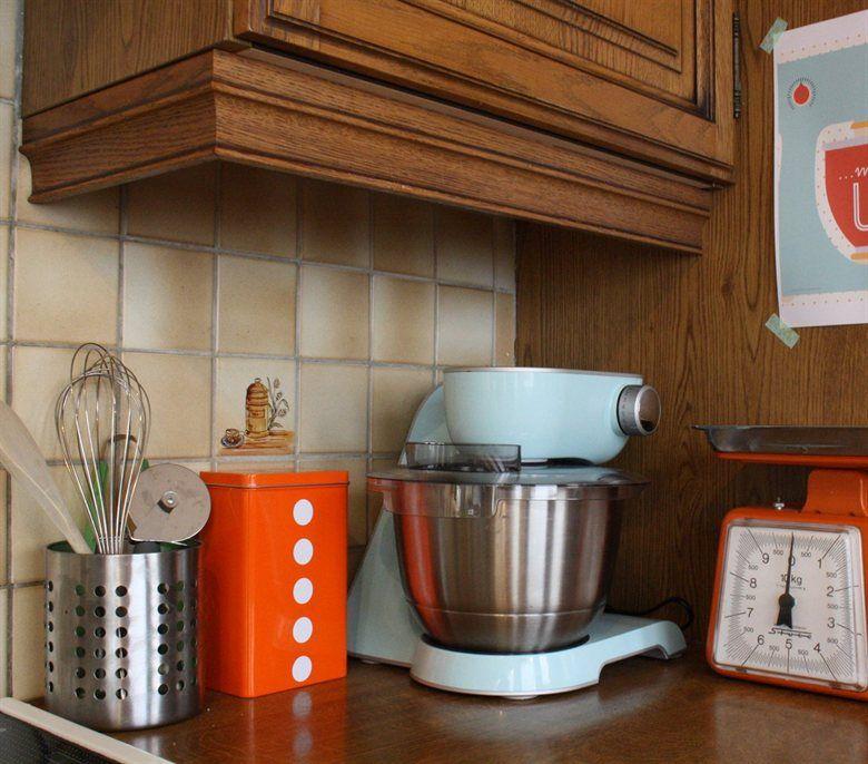 Vintage Kitchen Orange Tin Live From Ikea Family I Like Orange