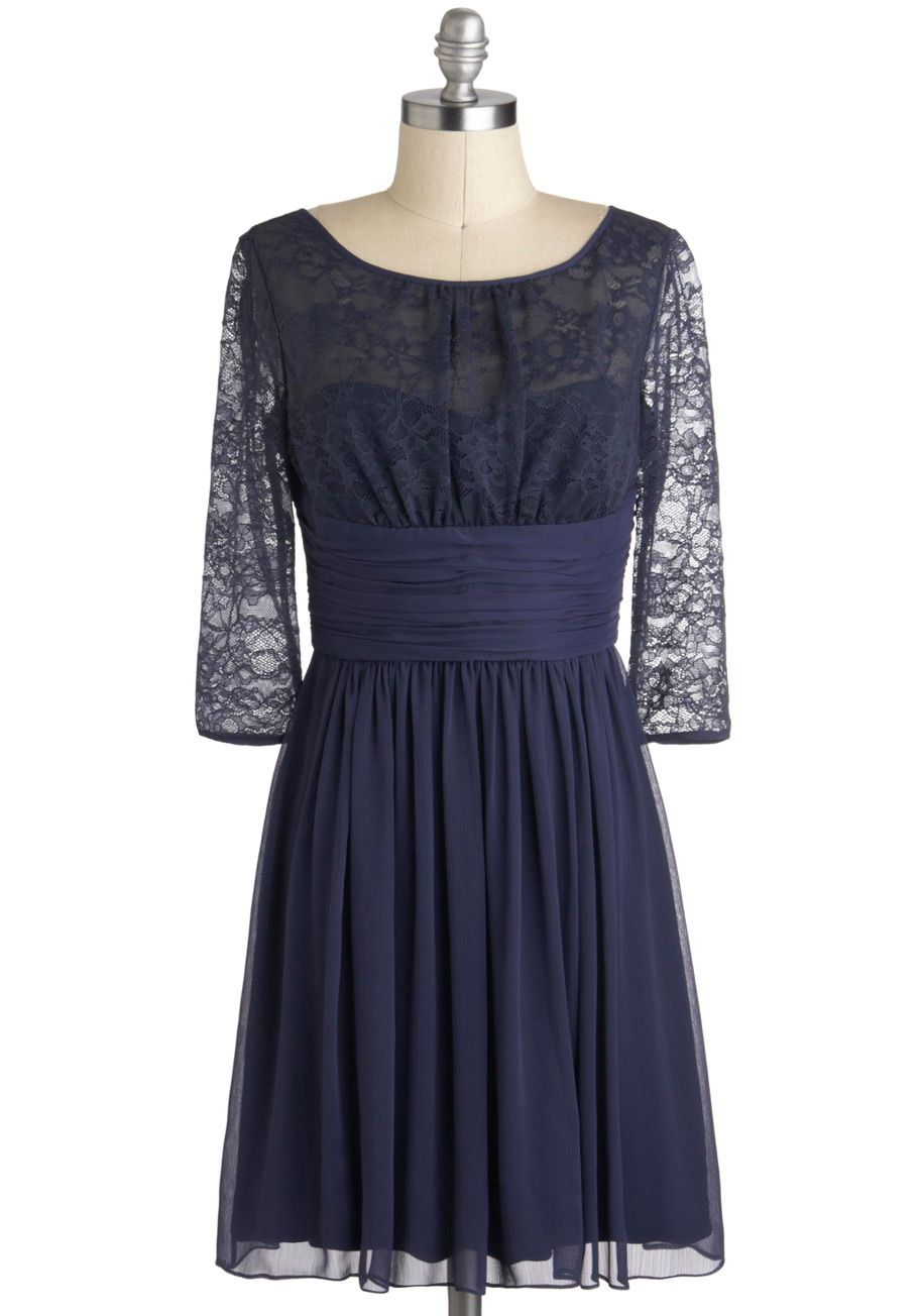 Sensationally subtle dress by max and cleo blue solid lace