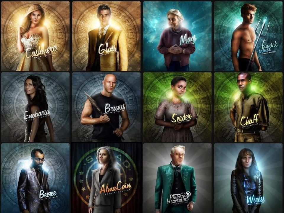 Hunger Games Catching Fire Cast Art The Hunger Games Catching