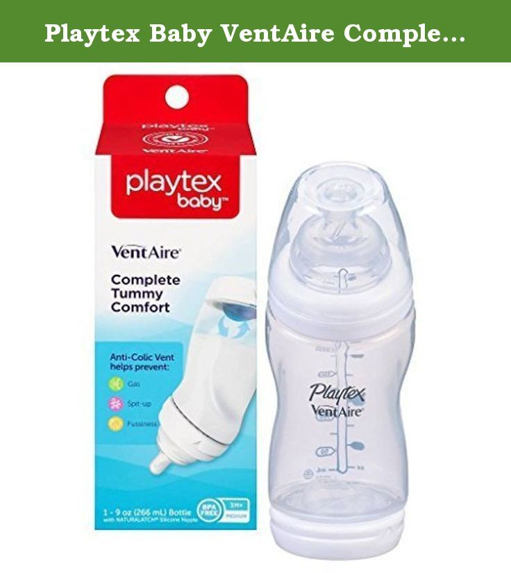 Baby Ventaire Complete Tummy Comfort Anti Colic Baby Bottle Playtex 9oz 5 Pack
