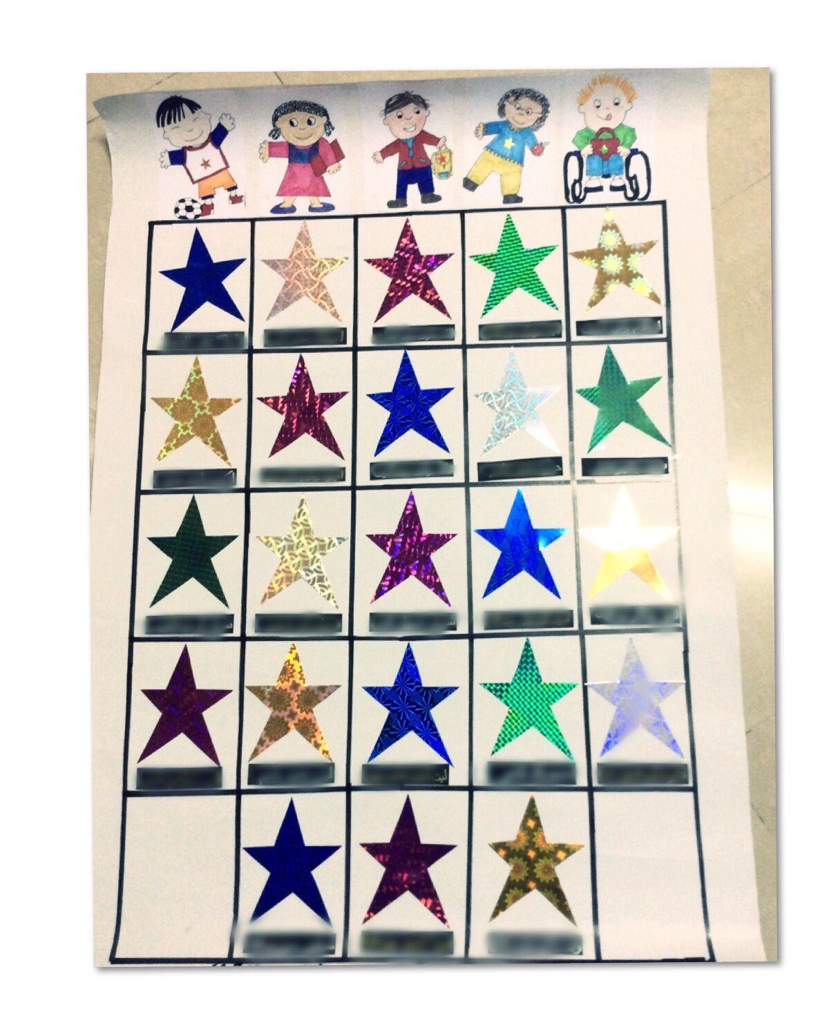 Star Student Chart لوحة النجوم Decor Holiday Decor Home Decor