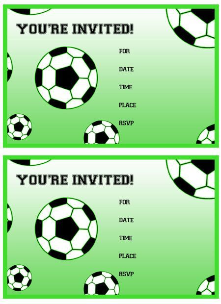 Soccer Birthday Invitation Templates Free Soccer Party