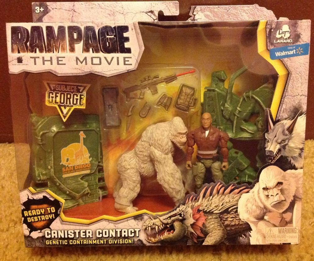 Rampage The Movie Canister Contact George Gorilla Monster