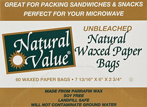 Natural Value Waxed Paper Bags 60 Count Http Www
