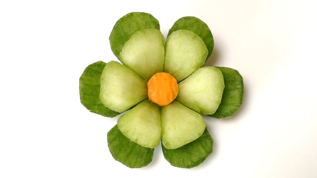 Cucumber Little Button Flower - Beginners Lesson 63 By Mutita Art Of Fru...