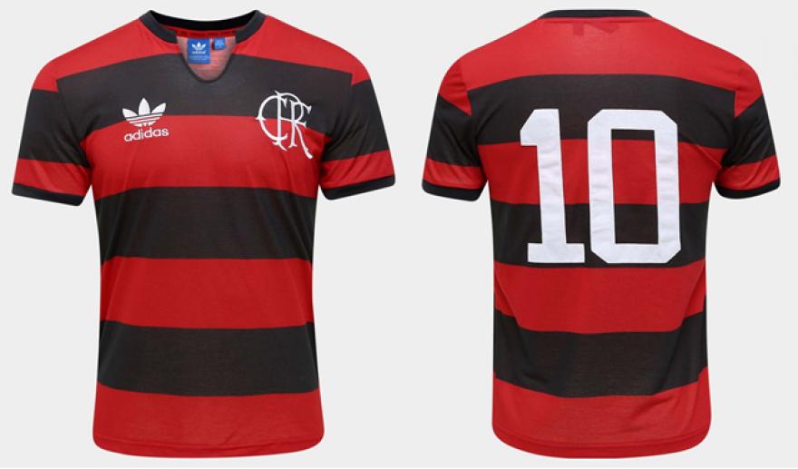 Flamengo e adidas lançam nova camisa da linha Originals Peça homenageia os  100 anos das listras horizontais rubro-negras no Manto 183307bd09537