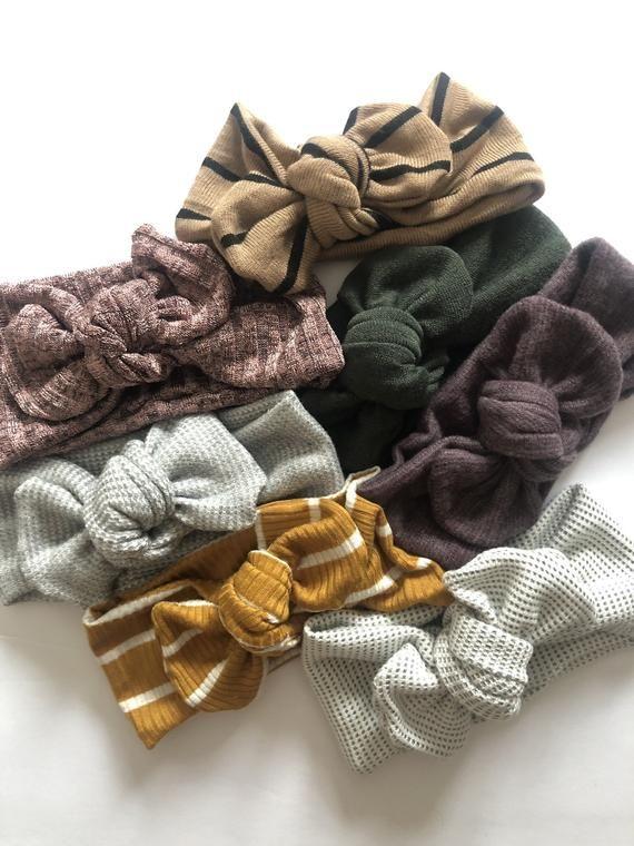Baby Headband // Baby Headwraps // Baby Topknot // Baby Girl Gift // Newborn Photo Props // Newborn Headbands // Gifts for a Baby Girl