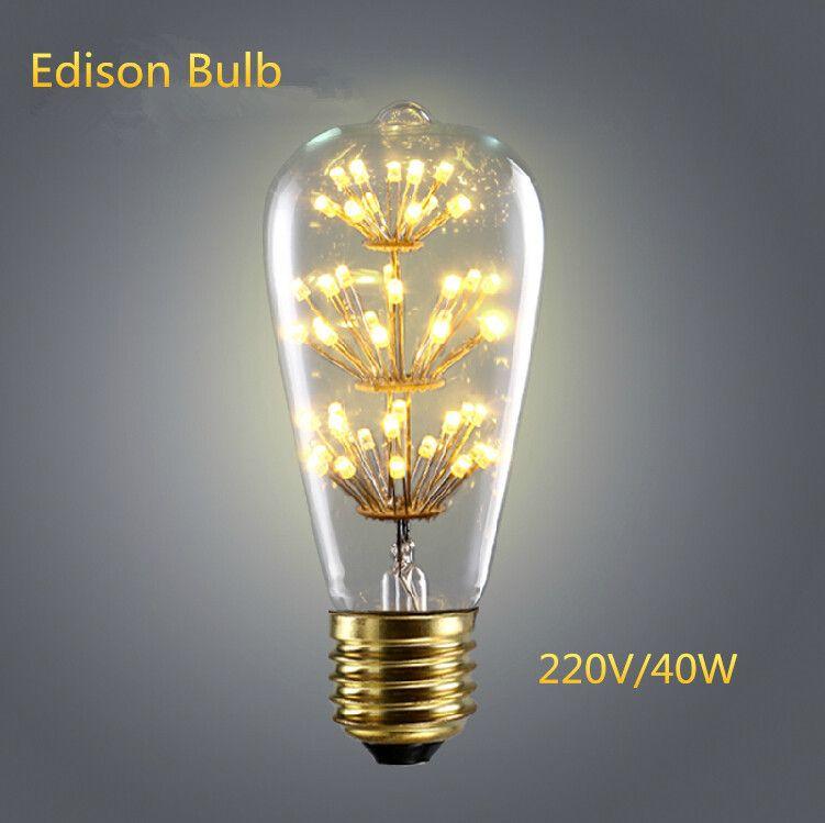 find more led bulbs tubes information about retro vintage starry led edison bulb e27 220v st64. Black Bedroom Furniture Sets. Home Design Ideas