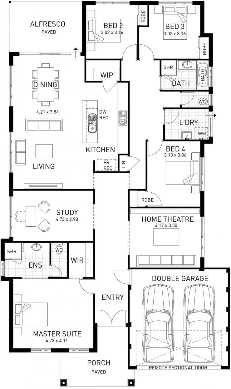 New Hampton Single Storey Home Design Foundation Floor Plan Wa House Plans House Design Hamptons Style Homes
