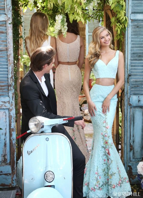Visit the post for more. Sherri Hill lace prom dress at Hope's Bridal