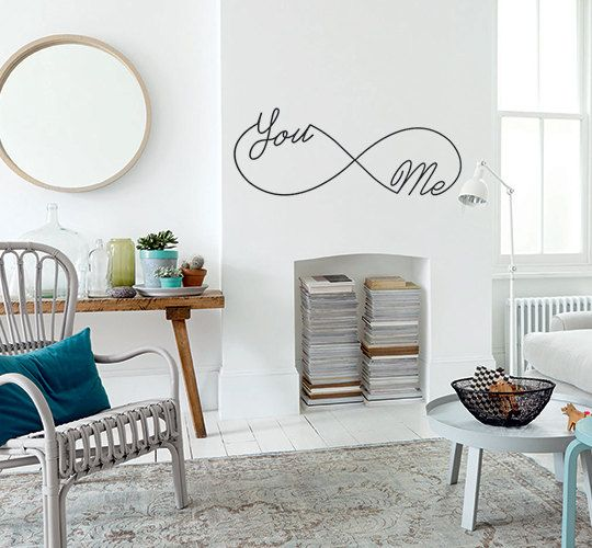 You me infinity wall art home decals by homedecalsuk on etsy