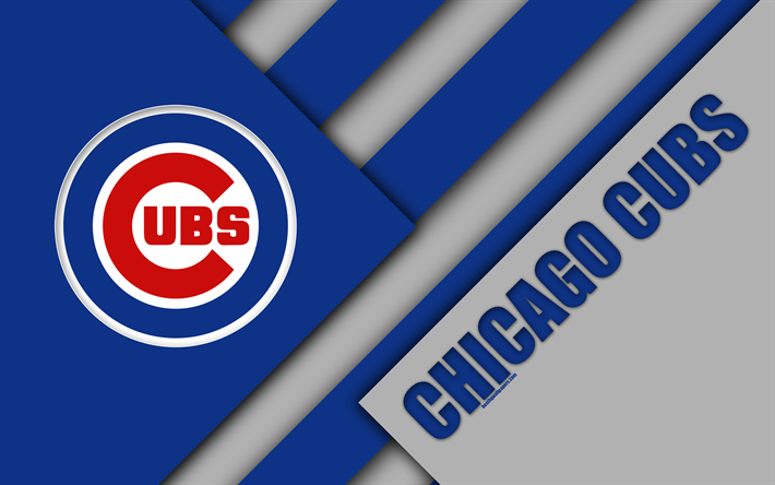 Download Wallpapers Chicago Cubs Mlb 4k Gray Blue Abstraction Logo Material Design American Baseball Club Chicago Illinois Usa Major League Baseball Chicago Cubs Chicago Cubs Wallpaper Mlb Chicago Cubs