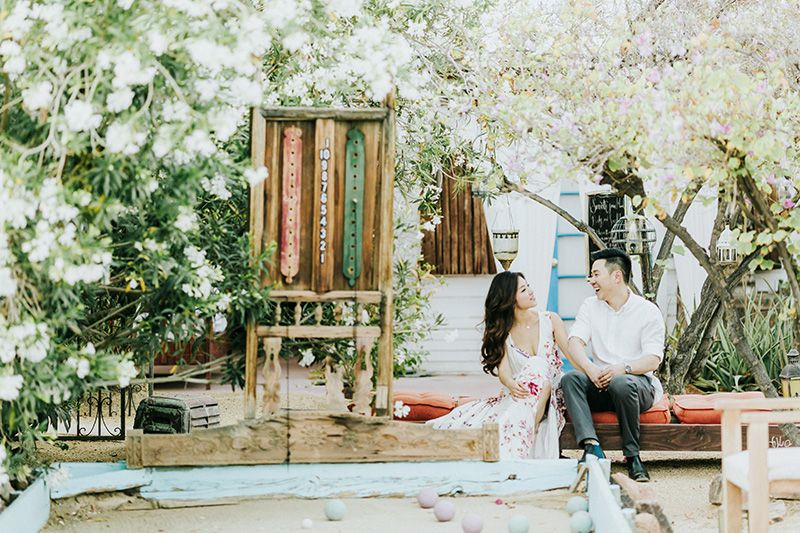 Korakia Pensione Palm Springs Engagement Session. It's a