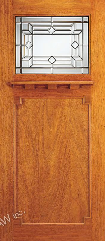 AAW Doors Inc. AC-707-A Brazilian Mahogany Arts and Crafts Door with & AAW Doors Inc. AC-707-A Brazilian Mahogany Arts and Crafts Door with ...