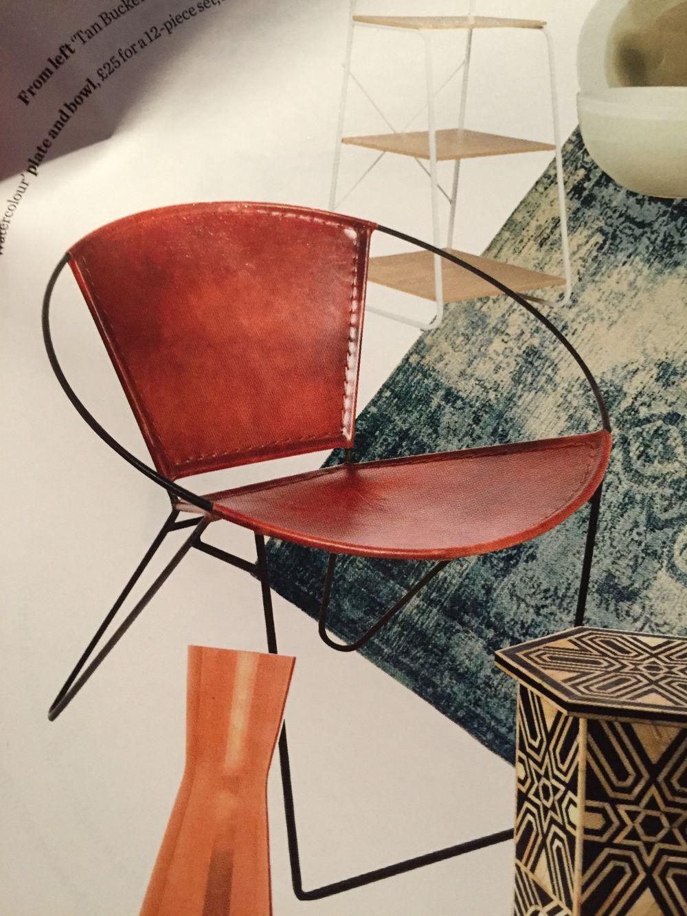 u0027Tan bucketu0027 leather chair £299 bhs.co.uk & Tan bucketu0027 leather chair £299 bhs.co.uk   Outdoor furniture ...