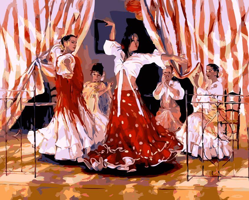 Muurstickers home decor diy olieverf Kleuren door getallen schilderen nummers Randloze cuadros Spaanse danser pictures m433 in muurstickers home decor diy olieverf Kleuren door getallen schilderen nummers Randloze cuadros Spaanse danser pictures m van Schilderen& kalligrafie op AliExpress.com | Alibaba Groep