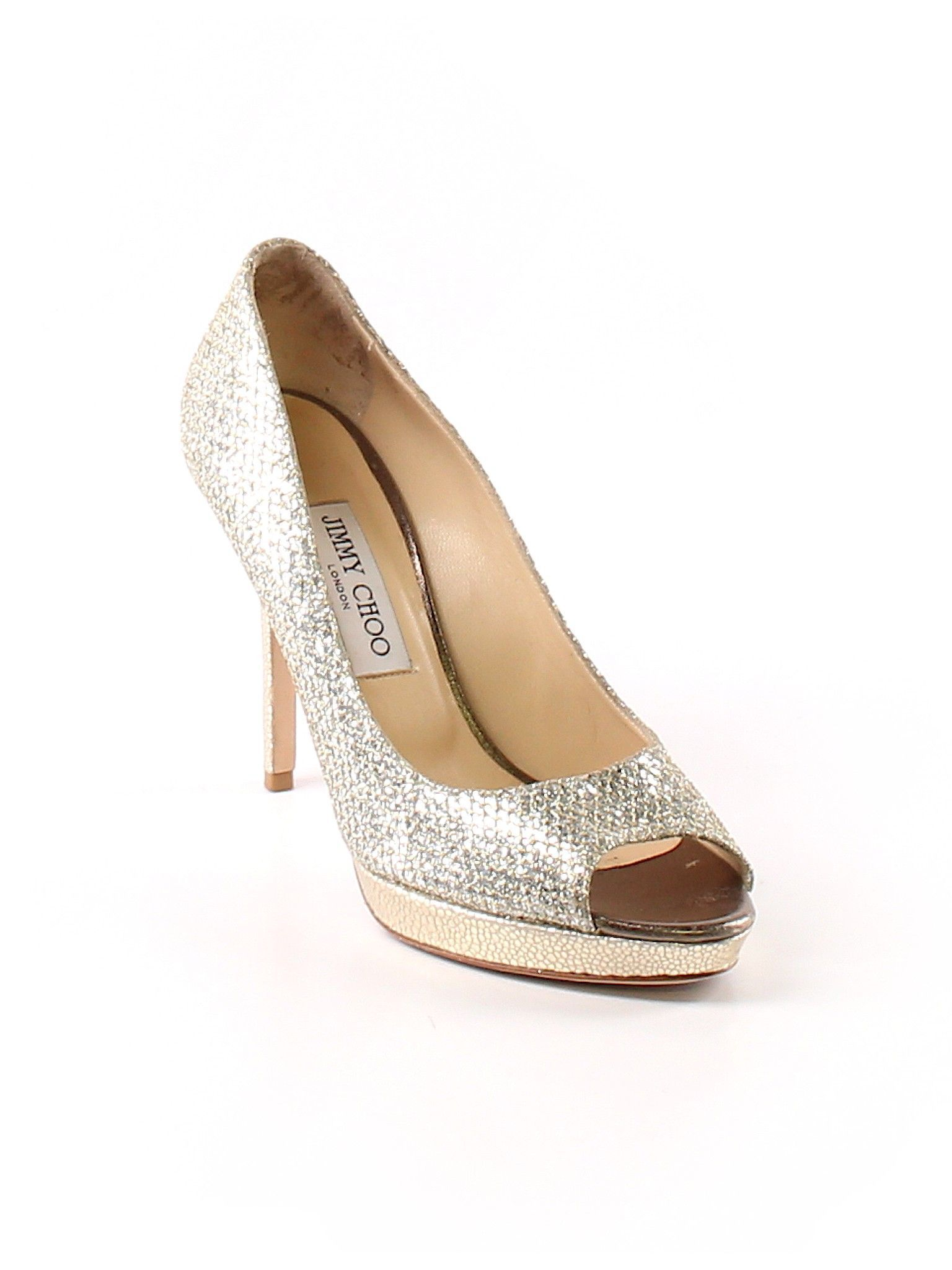 2288ba5ec2d Jimmy Choo Heels  Size 8 1 2 Gold Women s Clothing -  290.99