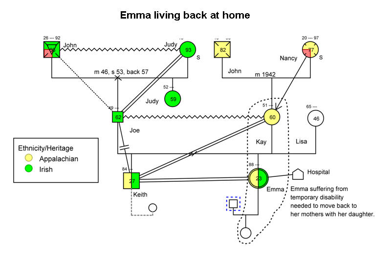 genograms and ecomaps Genograms are a practical tool in social work practice, both in terms of assessment and intervention this article explores their use in social work practice and provides instructions for creating a genogram in microsoft word.