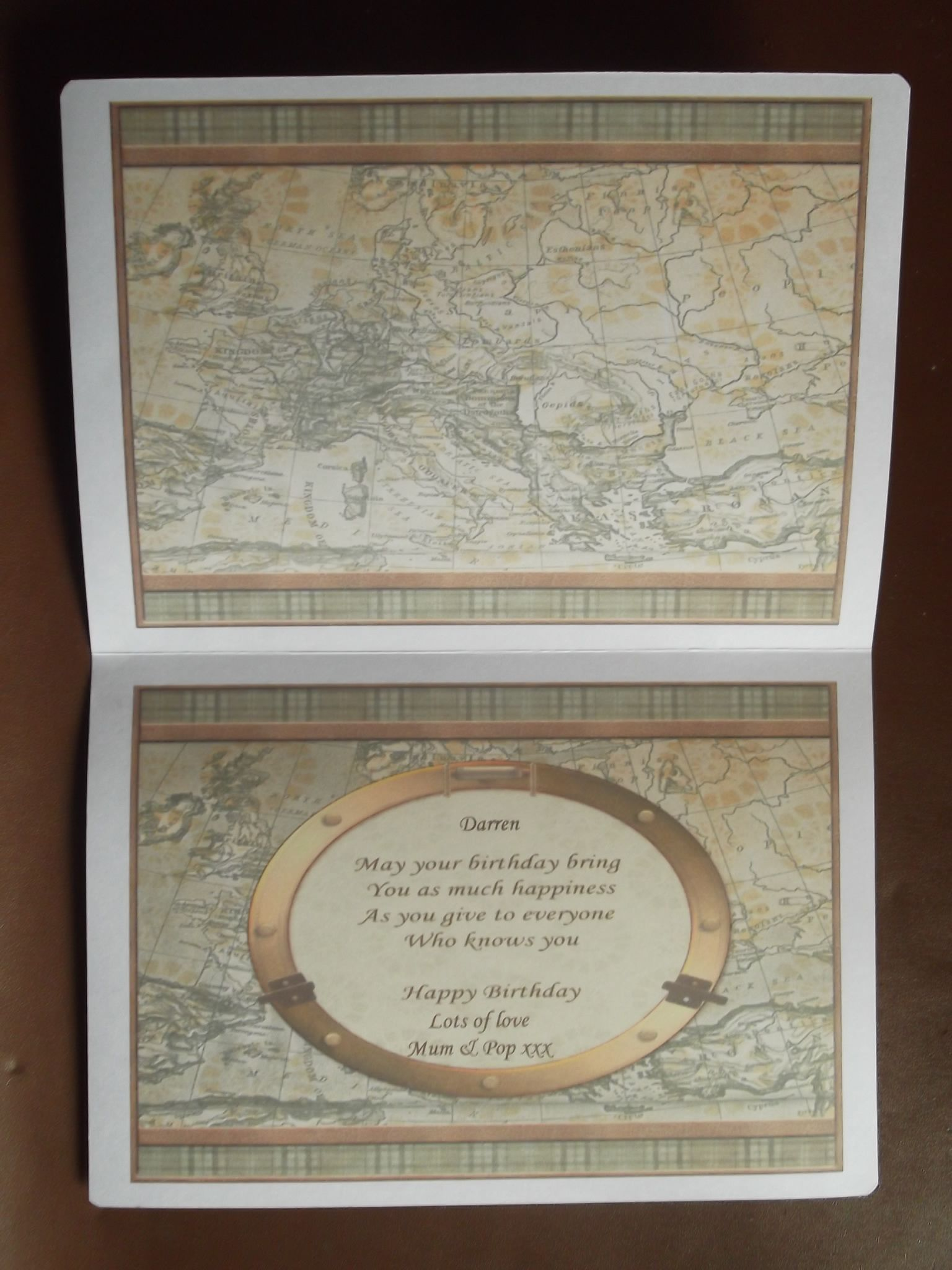 Real Nice Map For The Birthday Card Inserts Cards Pinterest