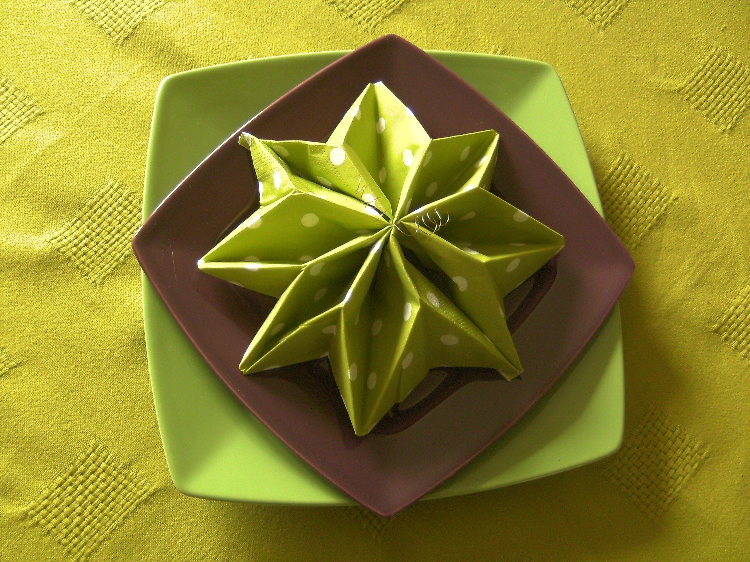 Fresh Pliage Serviettes Papier Facile Gratuit Napkins Tableware Creative
