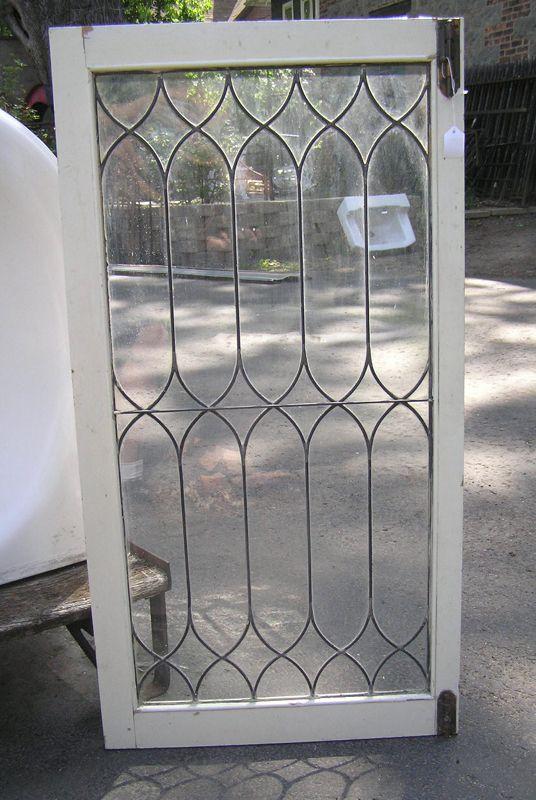 Antique Set Of 5 Leaded Glass Doors Leaded Glass Door Leaded