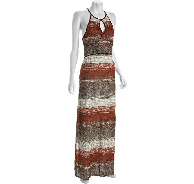 Free People sienna printed and ribbed 'All Day Long' racerback maxi dress