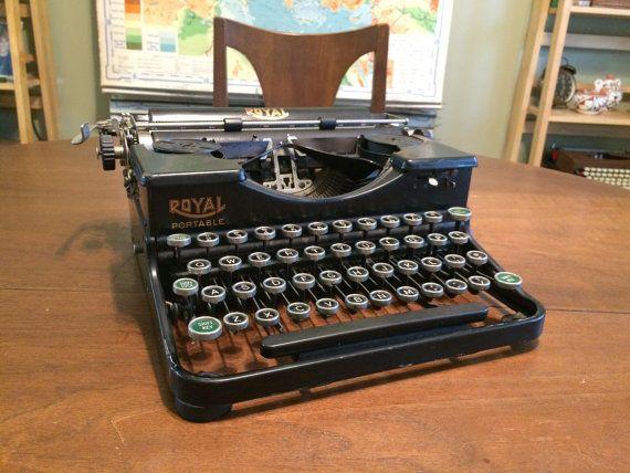 Antique Model P Royal Portable Typewriter  by WheatStateVintage