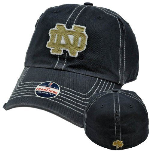 7657f0064ac19 ... czech ncaa notre dame fighting irish vintage ripped distressed  franchise cap hat patch by franchise by