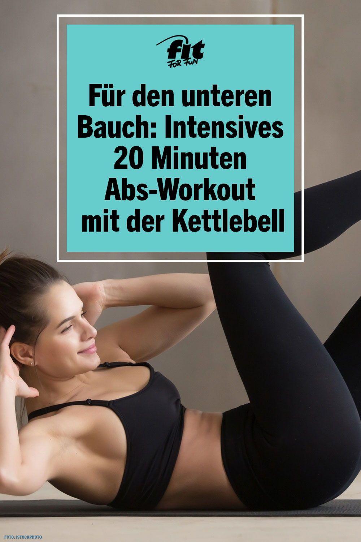 Speziell für den unteren Bauch: Intensives Bauch-Workout mit der Kettlebell