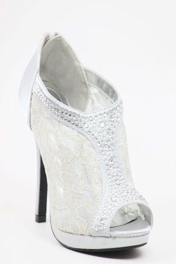 Wedding Shoes Silver Bridesmaid Shoe Sandals Bridal