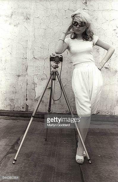 Debbie Harry with a Camera on a Tripod