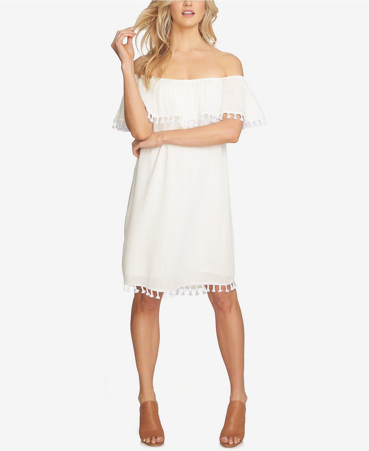 1.STATE Off-The-Shoulder Shift Dress - Dresses - Women - Macy's
