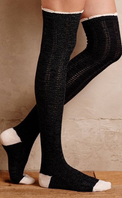 Ruffled Cable Over-The-Knee Socks   | Pinned by topista.com