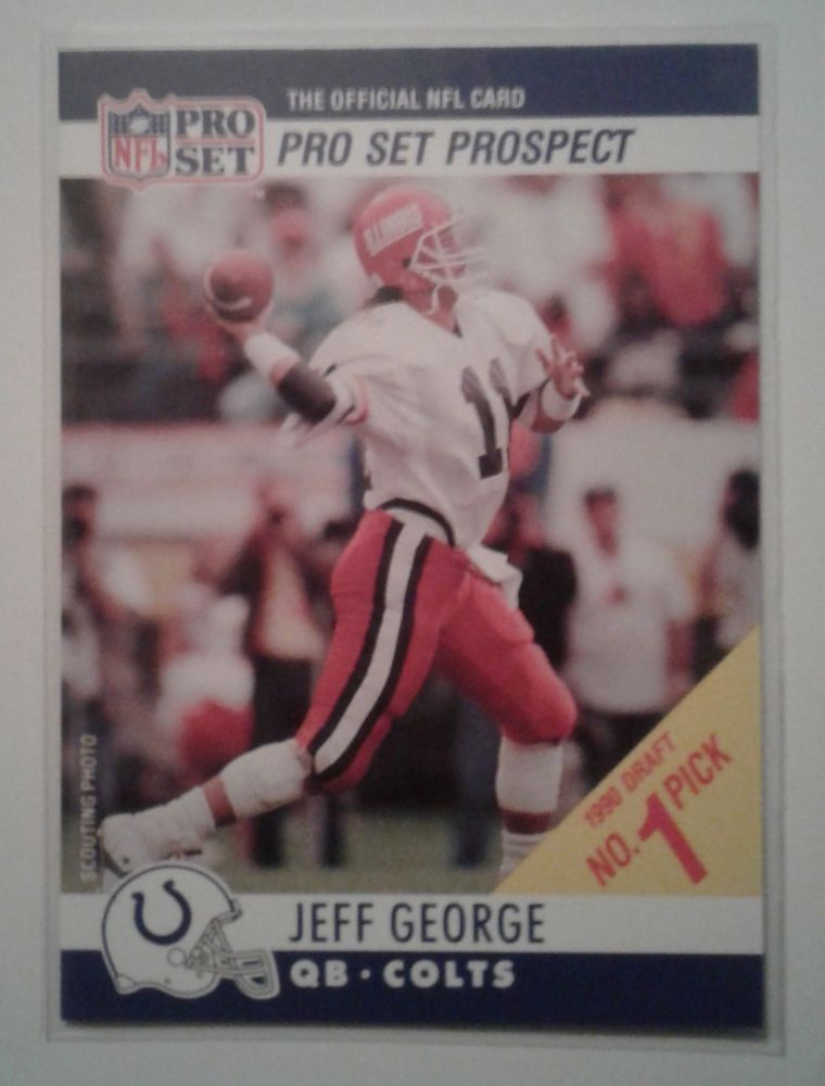 1990 Pro Set Test Stripe Error Jeff George Illinois Colts
