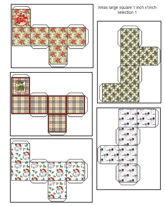 Scatole regalo quadrati miniatura dollhouse stampabili for Regalo mobili gratis