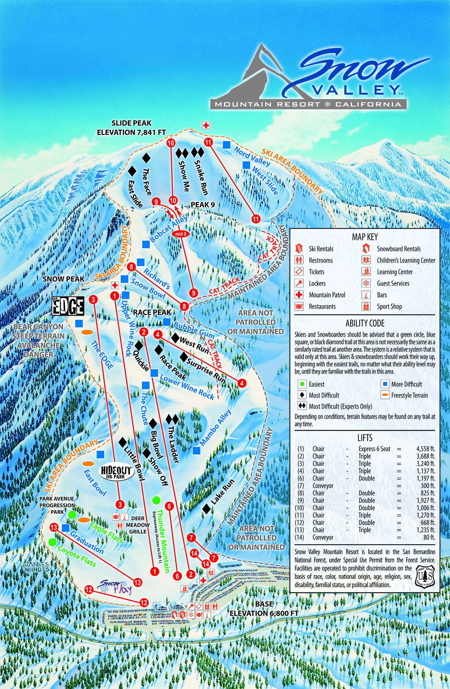 Snow Valley Mountain Resort - Ski & Snowboard | All About Lake