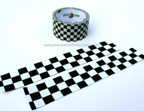 download checkered pattern Kennys cars birthday party Pinterest