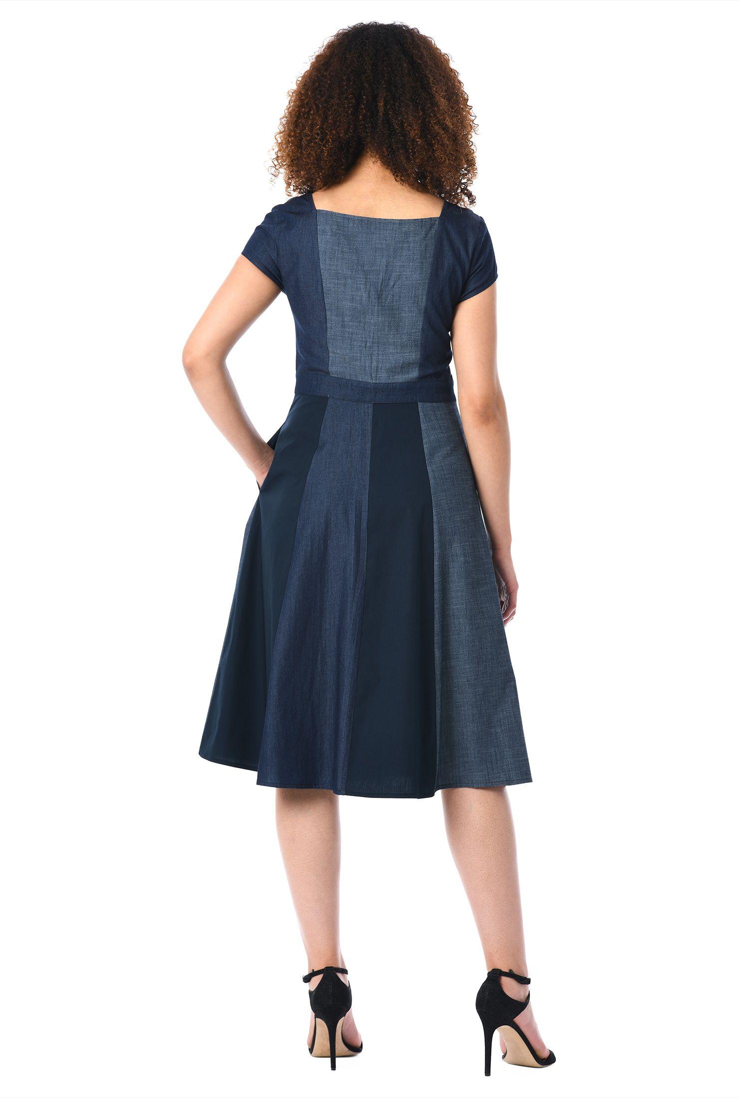 Below knee length dresses button front dresses cap sleeve dresses