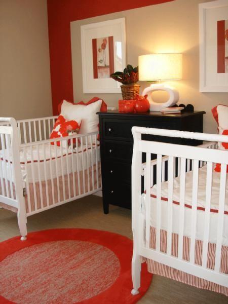 red white black unisex twin nursery | nursery. | pinterest | twin