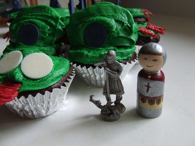 Waltzing Matilda: Dragon Cupcake Cake for St. George