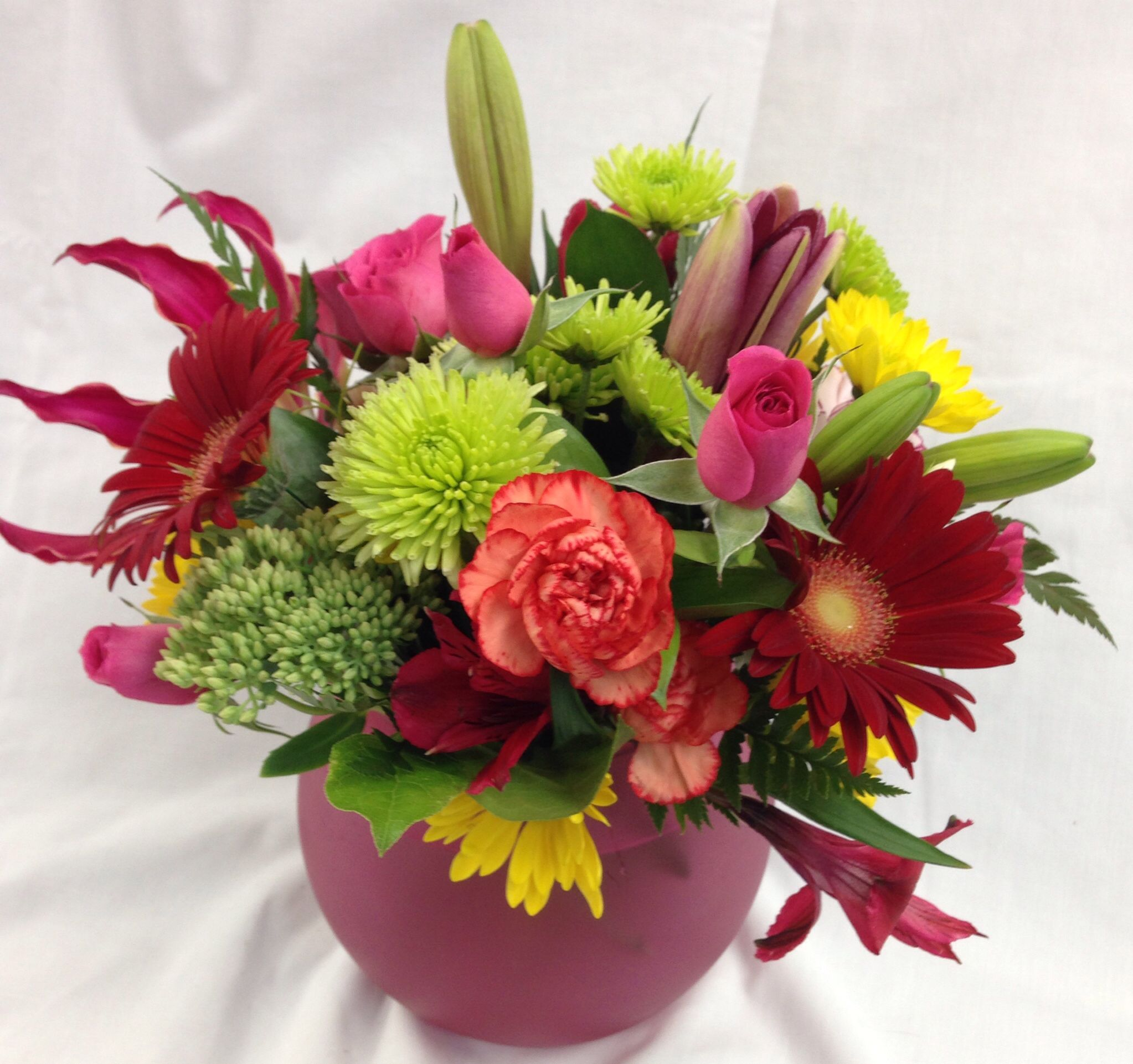 Colorful flower arrangement made by countryside florist | Everyday ...