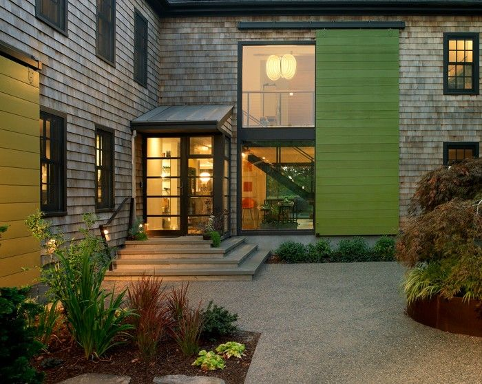 exterior window treatment - two story barn door shutter Northeast Collaborative Architects & exterior window treatment - two story barn door shutter Northeast ...