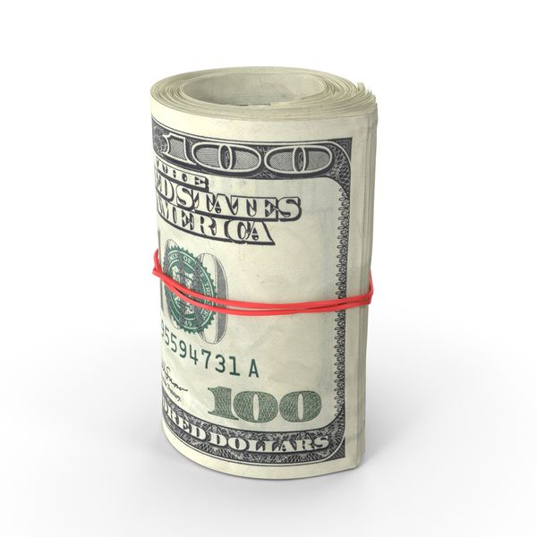 Roll Of One Hundred Dollar Bills Image Pixelsquid Com S105951924 Money Tattoo Dollar Bill Dollar Money