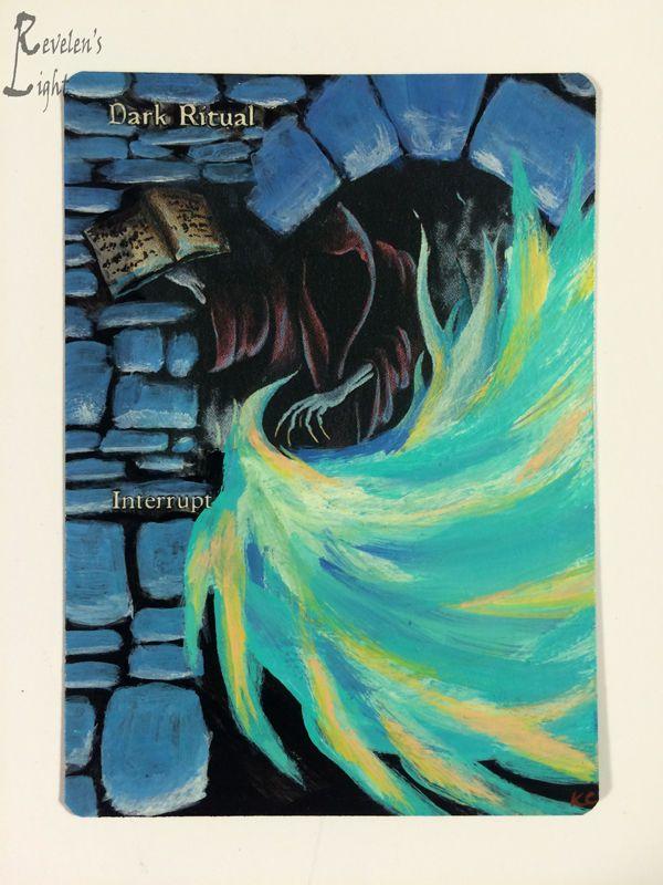 Dark Ritual - Full Art - MTG Alter - Revelen's Light Altered Art Magic Card